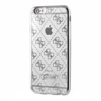 Guess 4G Transparent - Etui iPhone 6s / iPhone 6 (przezroczysty/srebrny)