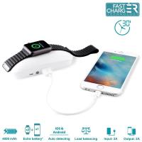 PURO Dual iPower - Mobilna stacja Apple Watch & iPhone 4000mAh (funkcja power bank)