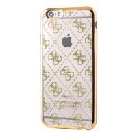 Guess 4G Transparent - Etui iPhone 6s / iPhone 6 (przezroczysty/złoty)