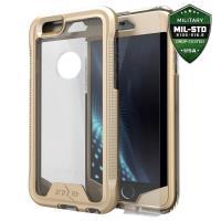 Zizo ION Cover - Pancerne etui iPhone 6s / iPhone 6 + szkło 9H na ekran (złoty/przezroczysty)