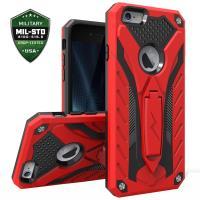 Zizo Static Cover - Pancerne etui iPhone 6s / iPhone 6 z podstawką (czerwony/czarny)