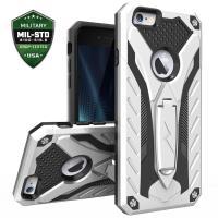 Zizo Static Cover - Pancerne etui iPhone 6s Plus / iPhone 6 Plus z podstawką (srebrny/czarny)
