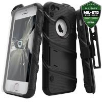 Zizo Bolt Cover - Pancerne etui iPhone SE / iPhone 5s / iPhone 5 + szkło 9H na ekran (czarny)