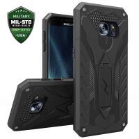 Zizo Static Cover - Pancerne etui Samsung Galaxy S7 edge z podstawką (czarny)