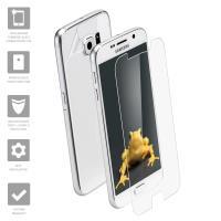 Wrapsol Hybrid - Hartowane szkło 9H + folia na obudowę do Samsung Galaxy S7