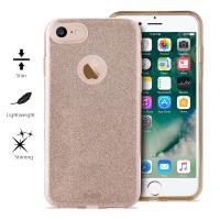 PURO Glitter Shine Cover - Etui iPhone 8 / 7 (Gold)