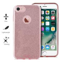 PURO Glitter Shine Cover - Etui iPhone 8 / 7 (Rose Gold)