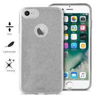 PURO Glitter Shine Cover - Etui iPhone 8 / 7 (Silver)