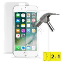 """PURO Ultra Slim """"0.3"""" Cover - Etui iPhone 8 / 7 + szkło ochronne hartowane na ekran (półprzezroczysty)"""