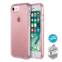 Speck Presidio Clear with Glitter - Etui iPhone 7 (Rose Pink/Gold Glitter)
