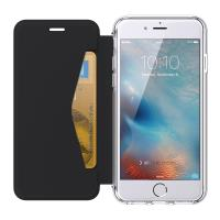Griffin Reveal Wallet - Etui z klapką iPhone 7 / 6s / 6  + kieszeń na kartę (czarny/przezroczysty)