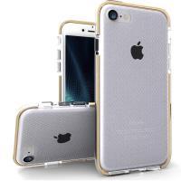 Zizo Pulse - Etui iPhone 8 / 7 (przezroczysty/złoty)