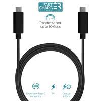 PURO Type-C Charge & Sync Cable - Kabel USB-C 3.1 na USB-C 3.1 do ładowania & synchronizacji danych, 3A, 10 Gbps, 1 m (czarny)