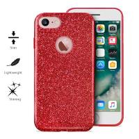 PURO Glitter Shine Cover - Etui iPhone 7 (Red Love) Limited edition