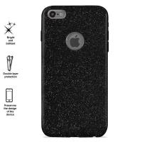 PURO Glitter Shine Cover - Etui iPhone 6s Plus / iPhone 6 Plus (Piano Black) Limited edition
