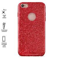 PURO Glitter Shine Cover - Etui Phone 6s Plus / iPhone 6 Plus (Red Love) Limited edition