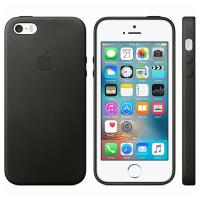 Apple Leather Case - Skórzane etui iPhone SE / iPhone 5s / iPhone 5 (czarny)