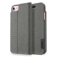 Laut APEX KNIT - Etui iPhone 8 / 7 / 6s / 6 z kieszenią na kartę + stand up + 2 x folia na ekran w zestawie (Granite)