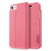 Laut APEX KNIT - Etui iPhone 7 / iPhone 6s / iPhone 6 z kieszenią na kartę + stand up + 2 x folia na ekran w zestawie (Coral)