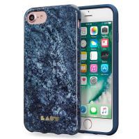 Laut HUEX ELEMENTS - Etui iPhone 8 / 7 / 6s / 6 z 2 foliami na ekran w zestawie (Marble Blue)