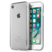 Laut EXOFRAME - Etui iPhone 8 / 7 z aluminiową ramką z 2 foliami na ekran w zestawie (Silver)