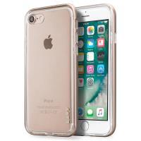 Laut EXOFRAME - Etui iPhone 8 / 7 z aluminiową ramką z 2 foliami na ekran w zestawie (Gold)