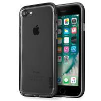 Laut EXOFRAME - Etui iPhone 8 / 7 z aluminiową ramką z 2 foliami na ekran w zestawie (Matt Black)