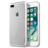 Laut EXOFRAME - Etui iPhone 8 Plus / 7 Plus z aluminiową ramką z 2 foliami na ekran w zestawie (Silver)