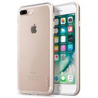Laut EXOFRAME - Etui iPhone 8 Plus / 7 Plus z aluminiową ramką z 2 foliami na ekran w zestawie (Gold)