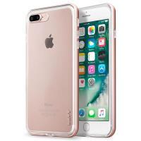 Laut EXOFRAME - Etui iPhone 8 Plus / 7 Plus z aluminiową ramką z 2 foliami na ekran w zestawie (Rose Gold)