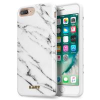 Laut HUEX ELEMENTS - Etui iPhone 7 Plus / iPhone 6s Plus / iPhone 6 Plus z 2 foliami na ekran w zestawie (Marble White)