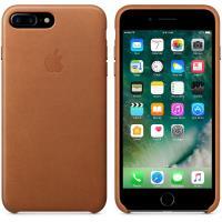 Apple Leather Case - Skórzane etui iPhone 7 Plus (naturalny brąz)