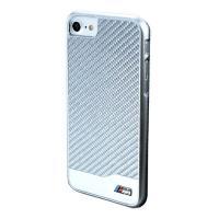 BMW Real Carbon Fiber Case - Etui aluminiowe iPhone 7 (srebrny)