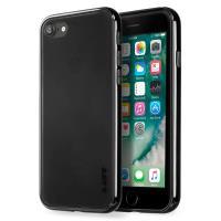 Laut EXOFRAME - Etui iPhone 8 / 7 z aluminiową ramką z 2 foliami na ekran w zestawie (Jet Black)