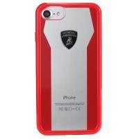 Lamborghini Huracan D8 Clear Shock Case - Etui iPhone 7 / iPhone 6s / iPhone 6 (czerwony)