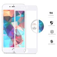 Zizo Full Edge to Edge - Szkło ochronne 9H na cały ekran iPhone 7 Plus (biała ramka)