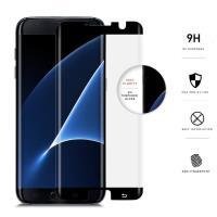 Zizo Full Edge to Edge - Szkło ochronne 9H na cały ekran Samsung Galaxy S7 edge (czarna ramka)