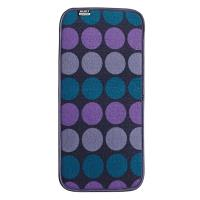 BUILT Reversible Bar Drying Mat - Mata do suszenia naczyń 20,3 x 45,7 cm (Plum Dot)