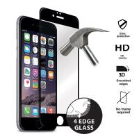 Puro Premium Full Edge Tempered Glass - Szkło ochronne hartowane na ekran iPhone 6s / iPhone 6 (czarna ramka)