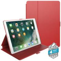 "Speck Balance Folio - Etui iPad 9.7"" (2017) / iPad Pro 9.7"" / iPad Air 2 / iPad Air w/Magnet & Stand up (Dark Poppy Red/Velvet Red)"
