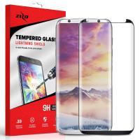 Zizo Full Edge to Edge - Szkło ochronne 9H na cały ekran Samsung Galaxy S8 (czarna ramka)