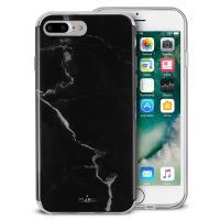 PURO Marble Cover - Etui iPhone 8 Plus / 7 Plus / 6s Plus / 6 Plus (Marquina Black)