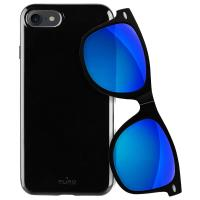 PURO Sunny Kit - Zestaw etui iPhone 8 / 7 + składane okulary przeciwsłoneczne (czarny)