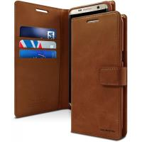 Mercury Bluemoon Flip - Etui Samsung Galaxy S8+ z kieszeniami na karty + stand up (brązowy)