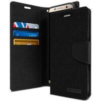 Mercury Canvas Diary - Etui Samsung Galaxy S8 z kieszeniami na karty + stand up (czarny)