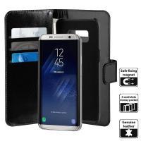 PURO Duetto Wallet Detachable - Skórzane etui 2w1 Samsung Galaxy S8 (czarny)