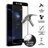 PURO Frame Tempered Glass - Szkło ochronne hartowane na ekran Huawei P10 Lite (czarna ramka)