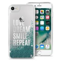 Puro Aqua Cover - Etui iPhone 8 / 7 / 6s / 6  (Love Dream Smile Repeat)