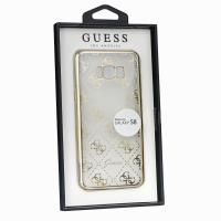 Guess 4G Transparent - Etui Samsung Galaxy S8 (złoty)