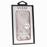 Guess 4G Transparent - Etui Samsung Galaxy S8 (różowo-złoty)
